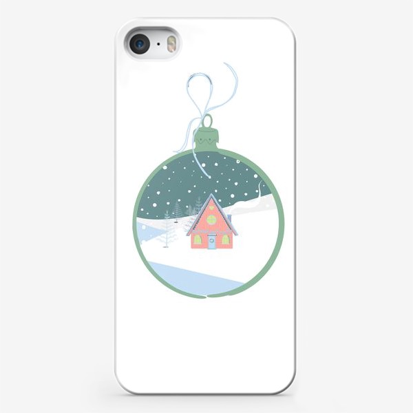 Чехол iPhone «Сказочный зимний домик в лесу»
