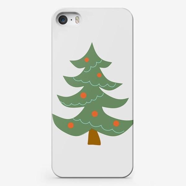 Чехол iPhone «Новогодняя елка»