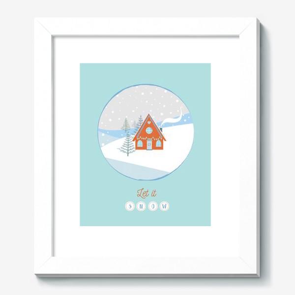 Картина «Сказочный зимний домик в лесу»