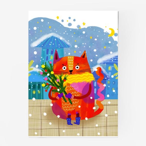 Постер «Зимний кот»