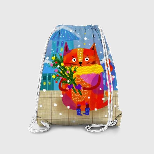 Рюкзак «Зимний кот»