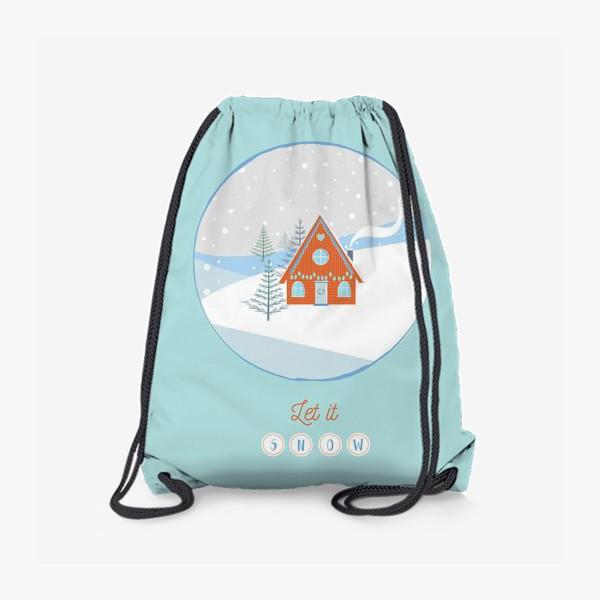 Рюкзак «Сказочный зимний домик в лесу»
