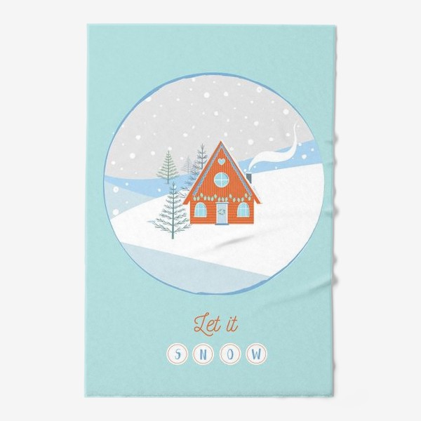 Полотенце «Сказочный зимний домик в лесу»