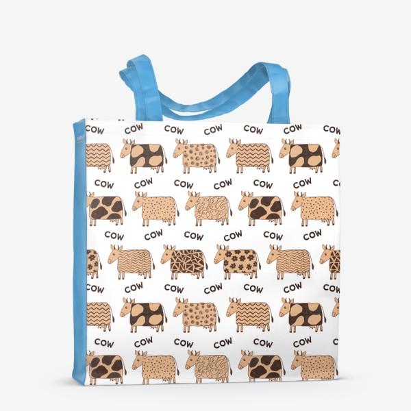 Сумка-шоппер «2021-й год коровы паттерн COW»