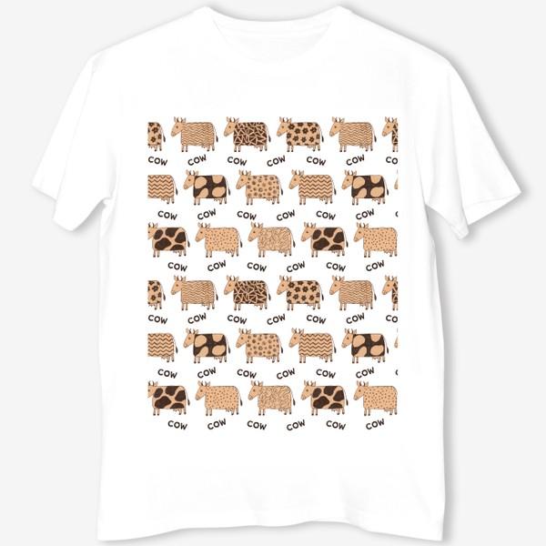 Футболка «2021-й год коровы паттерн COW»