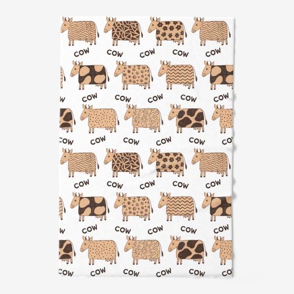 Полотенце «2021-й год коровы паттерн COW»