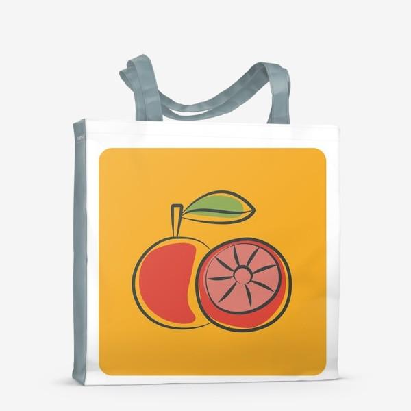 Сумка-шоппер «Апельсин на желтом фоне »