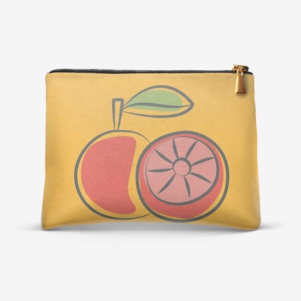 Косметичка «Апельсин на желтом фоне »
