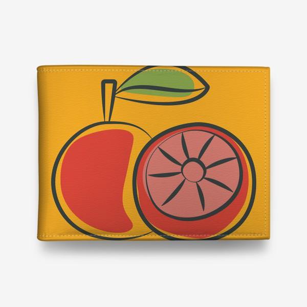 Кошелек «Апельсин на желтом фоне »