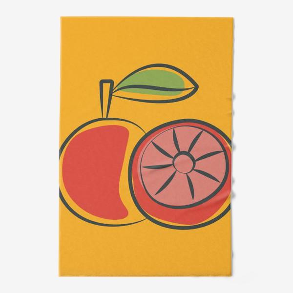 Полотенце «Апельсин на желтом фоне »