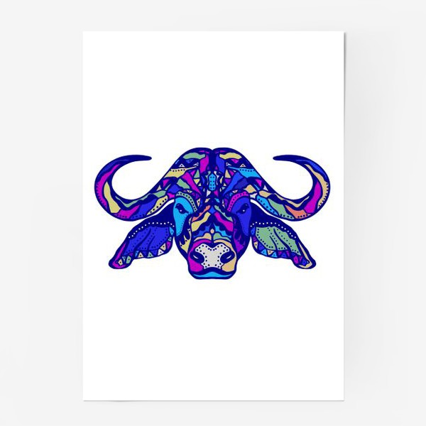 Постер «Телец неоновый »