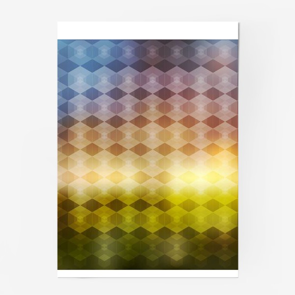 Постер «Геометрический фон»