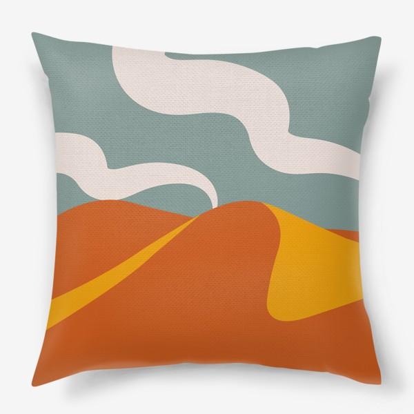 Подушка «Абстрактная пустыня»