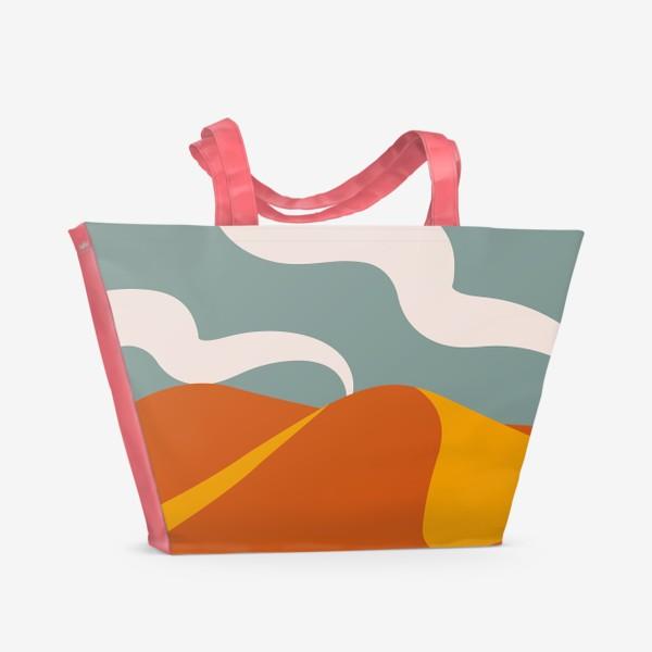 Пляжная сумка «Абстрактная пустыня»