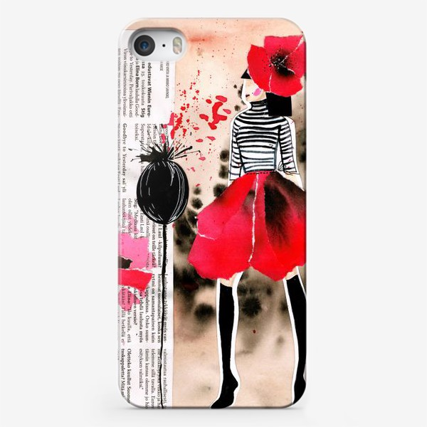 Чехол iPhone «Маковая кокетка »
