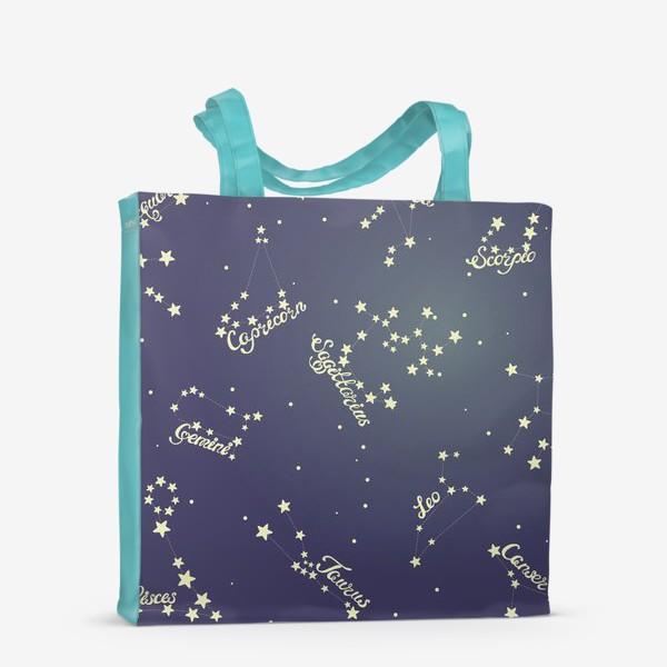 Сумка-шоппер «Знаки зодиака в ночном небе»