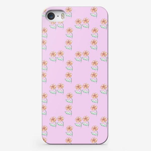 Чехол iPhone «Акварельный цветочный узор»