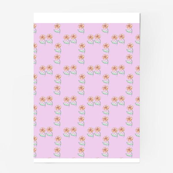 Постер «Акварельный цветочный узор»