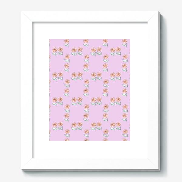 Картина «Акварельный цветочный узор»