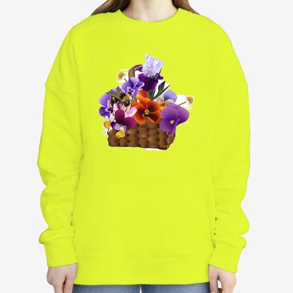 Свитшот «Корзинка с цветами»