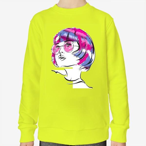 Свитшот «Lollipop   Color hair   Fashion cкетч»