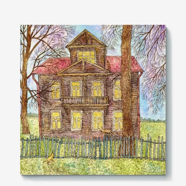 Холст «Осенний дом»