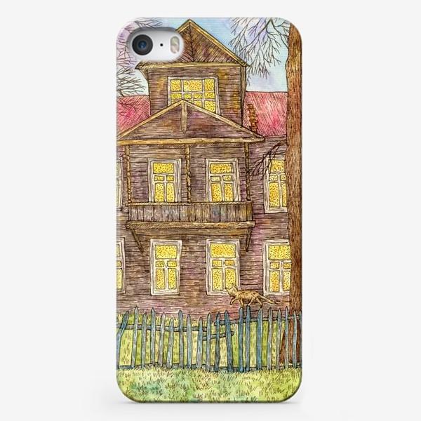 Чехол iPhone «Осенний дом»