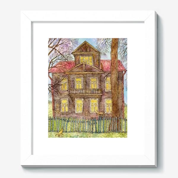 Картина «Осенний дом»