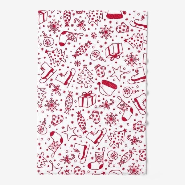 Полотенце «Рождественский паттерн»