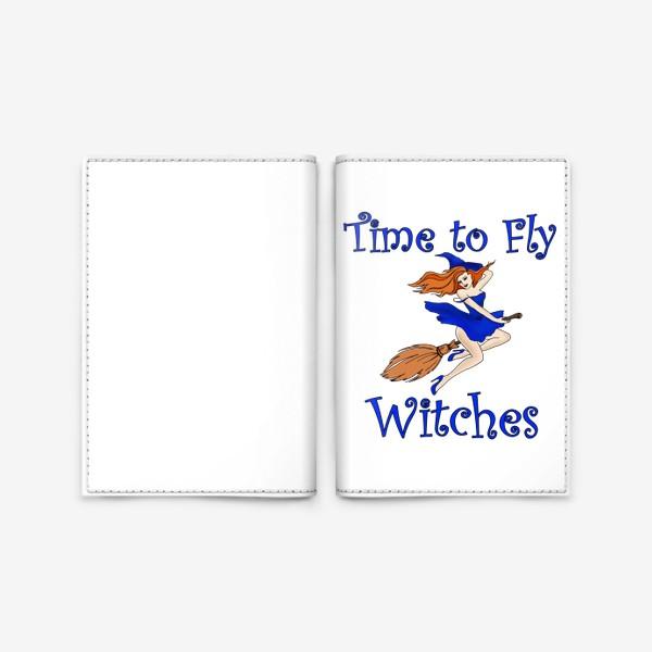 Обложка для паспорта «Ведьма. Хэллоуин. Магия. Волшебство»