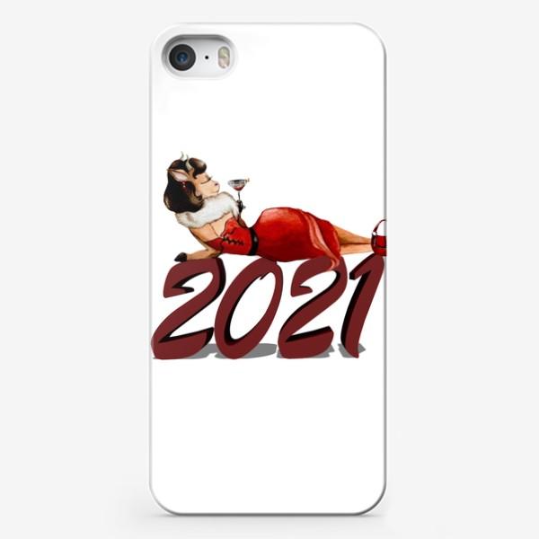 Чехол iPhone «Бык 2021 новый год гламур фэшн девушка бык, коровка»