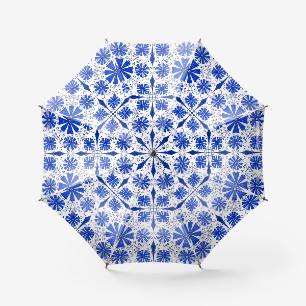 Зонт «Васильки узор »