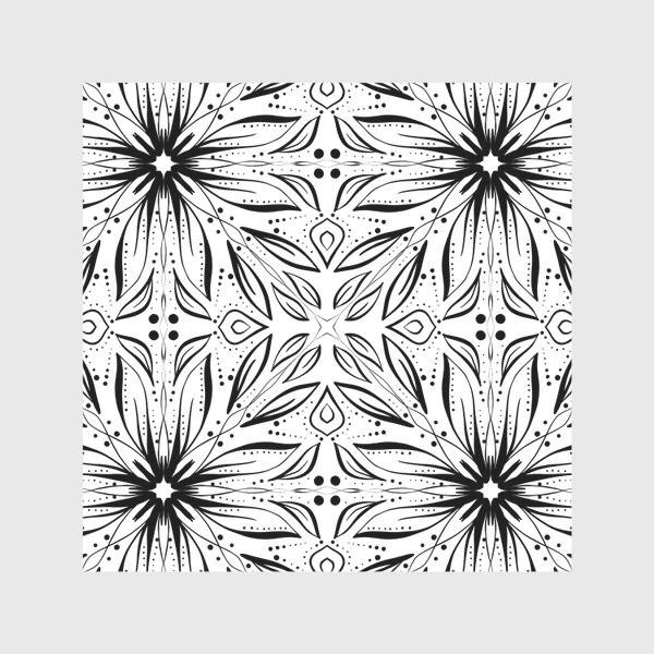 Скатерть «Черно-белый узор. Цветы »