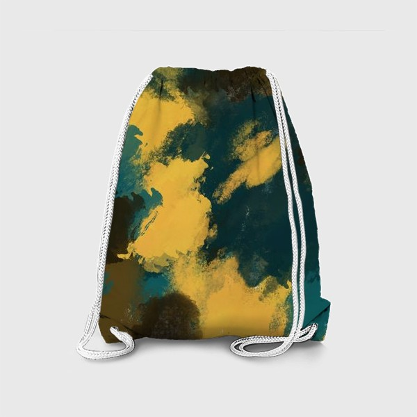 Рюкзак «Абстракция.Бирюзовый.Жёлтый.Коричневый.»