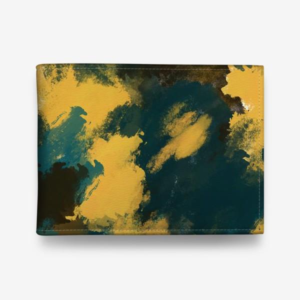 Кошелек «Абстракция.Бирюзовый.Жёлтый.Коричневый.»