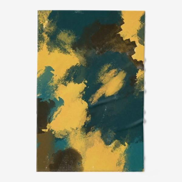 Полотенце «Абстракция.Бирюзовый.Жёлтый.Коричневый.»