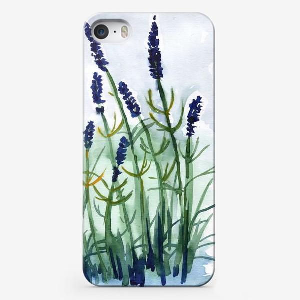 Чехол iPhone «Фиолетовые цветы»