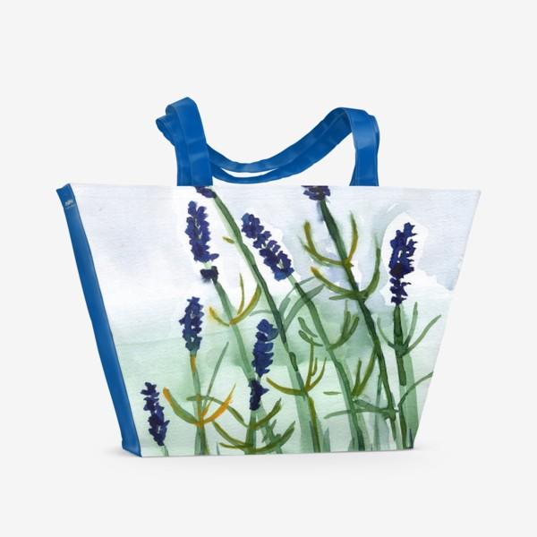 Пляжная сумка «Фиолетовые цветы»