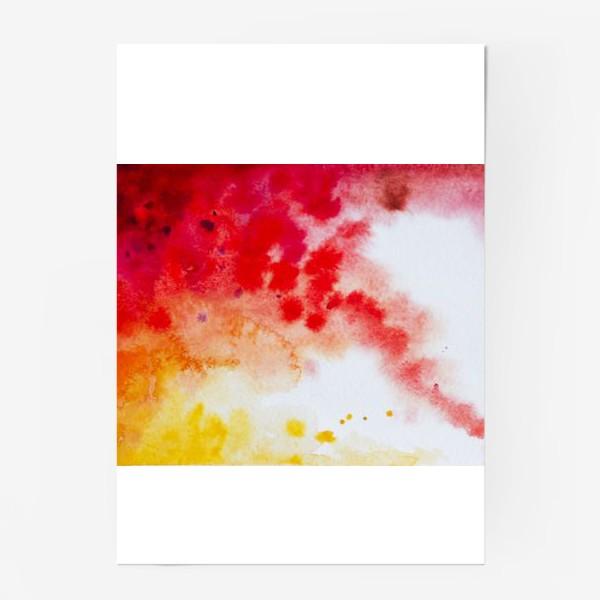 Постер «Акварель в осенних тонах»