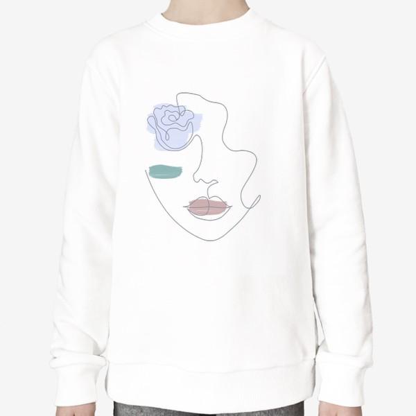 Свитшот «Девушка роза 3. Непрерывная линия»