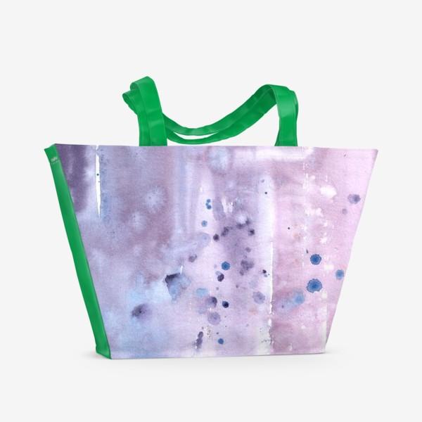 Пляжная сумка «Абстрактный фон в лавандовых тонах»