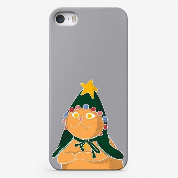 Чехол iPhone «Новогодний котик»