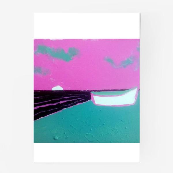 Постер «pink лодка))»