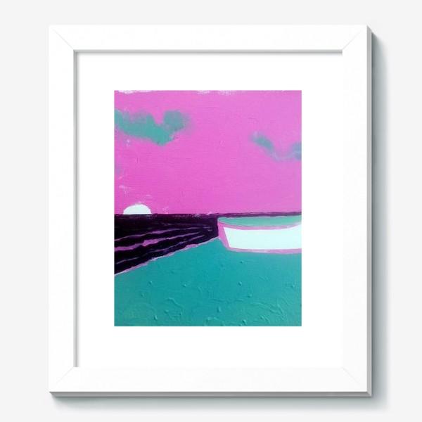 Картина «pink лодка))»