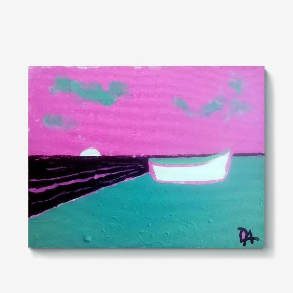 Холст «pink лодка))»