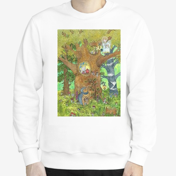 Свитшот «Маленький ежик в волшебном лесу»