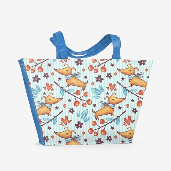 Пляжная сумка «Собачка Коко на прогулке»
