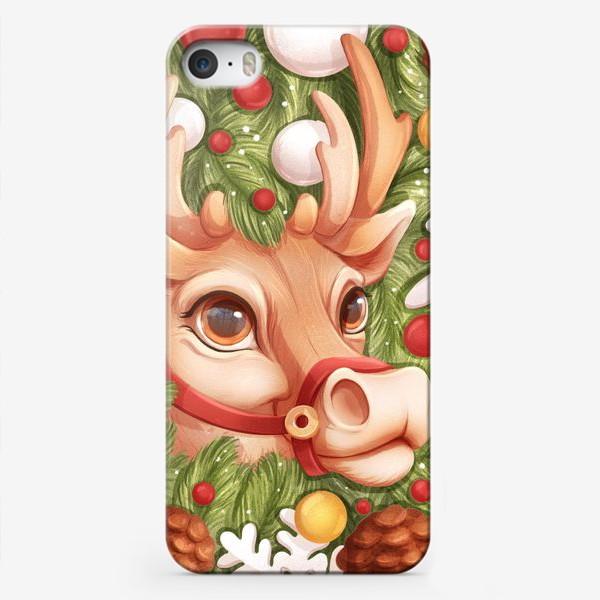 Чехол iPhone «Олень Санты»