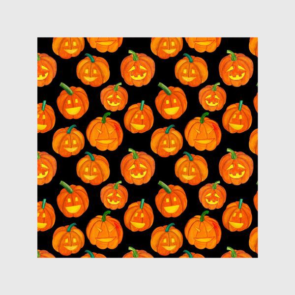 Шторы «Паттерн хеллоуиновские тыквы»