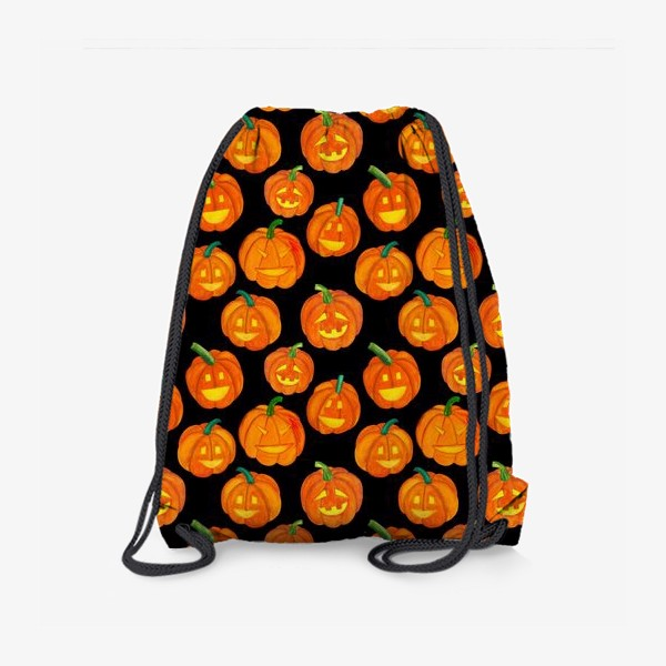 Рюкзак «Паттерн хеллоуиновские тыквы»